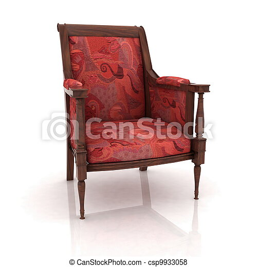 Una vista cerrada de la vieja silla de codos - csp9933058
