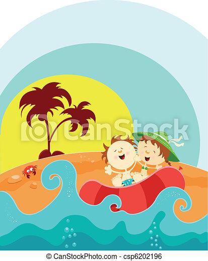 cieszyć się, lato - csp6202196
