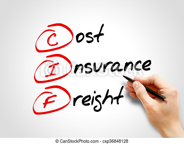 CIF - Cost Insurance Freight - csp36848128