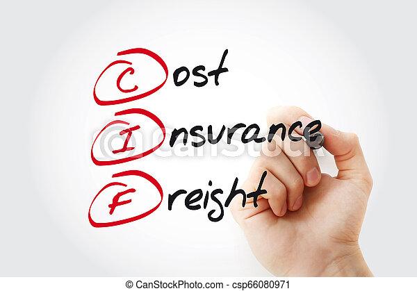 Escribiendo a mano CIF - coste de carga de seguros - csp66080971