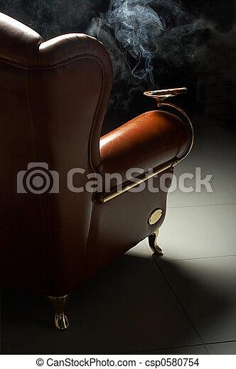 cigar and armchair - csp0580754