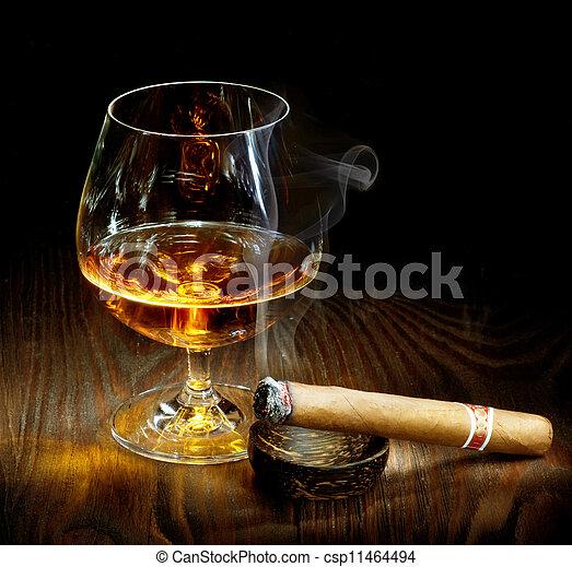 Cigar And Cognac  - csp11464494