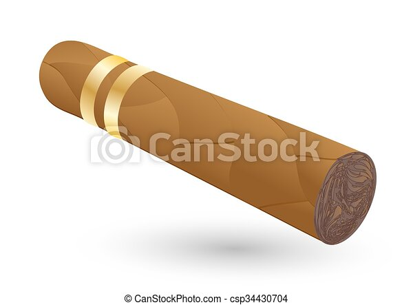 cigar on white - csp34430704