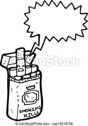 Dessin Paquet De Cigarette cigarette, dessin animé, paquet.