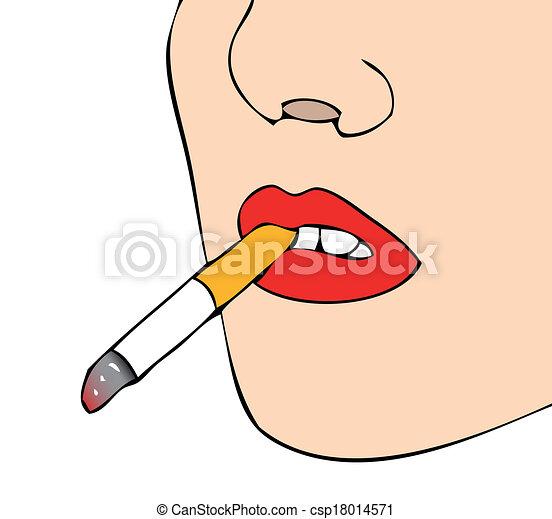 cigarette femme bouche. Black Bedroom Furniture Sets. Home Design Ideas