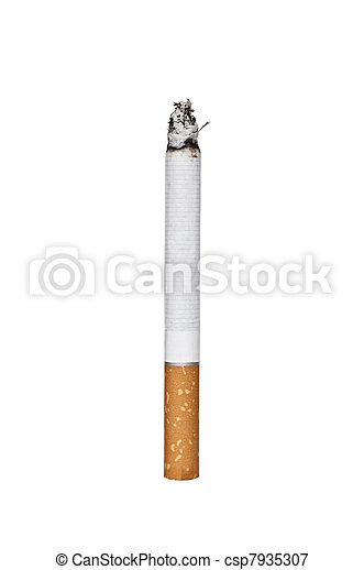 Cigarette isolated on white - csp7935307