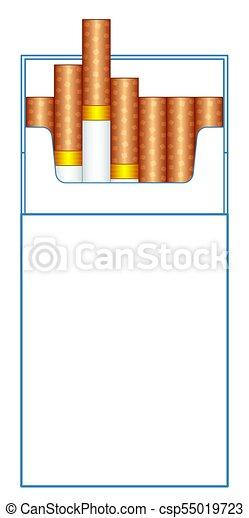 cigarette pack illustration illustration of the cigarette pack