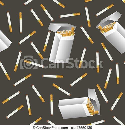 Cigarette Seamless Pattern - csp47550130