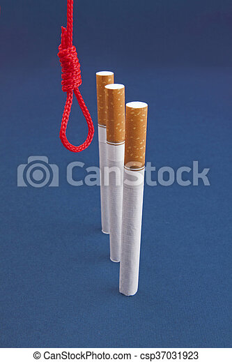 Cigarettes and hanging rope - csp37031923
