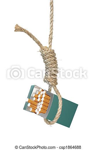 Cigarettes in a Noose - csp1864688