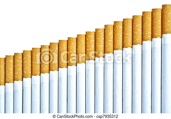 Cigarettes isolated on white background  - csp7935312