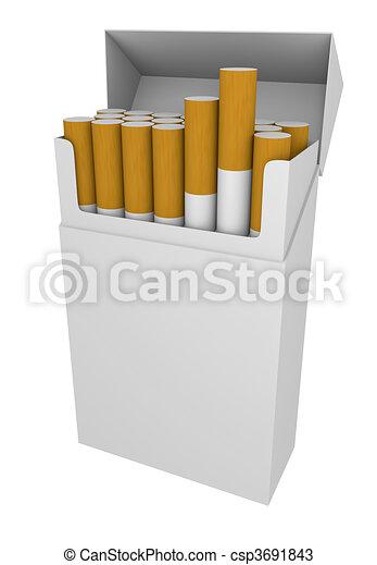 Dessin Paquet De Cigarette cigarettes, paquet. cigarettes;, rendu, image, paquet, vide, 3d.
