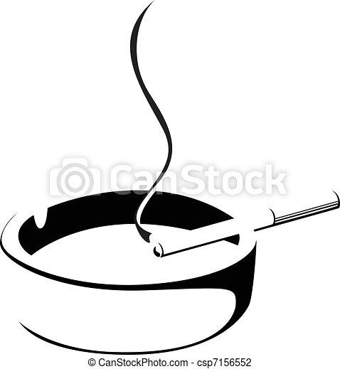 Fumen cigarrillos y ceniceros - csp7156552