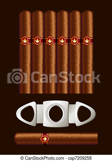 Cigars and guillotine. - csp7209258