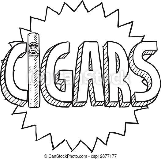 Cigars sketch - csp12877177