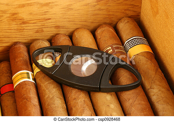 Cigars with cutter - csp0928468