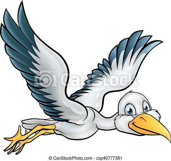 Cigogne dessin anim oiseau voler caract re air cigogne par animal dessin anim oiseau - Cigogne dessin ...