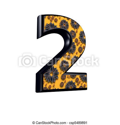 Cijfer 2 ontwerp floral 3d for Ontwerp 3d