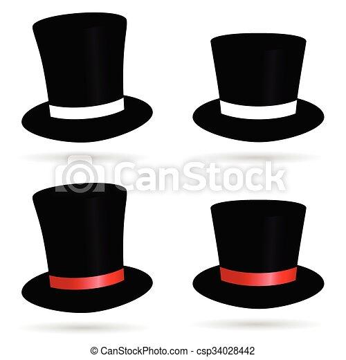 Colorare cilindro cappello illustrazione for Cappello disegno da colorare