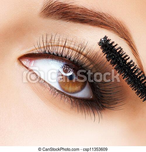 cils demande makeup mascara long make up. Black Bedroom Furniture Sets. Home Design Ideas