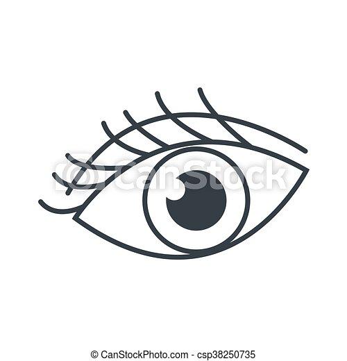 Cils oeil ic ne plat cils oeil simple illustration vecteurs search clip art - Dessin oeil facile ...