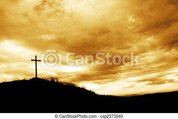 cima, cruz, colina - csp2373240