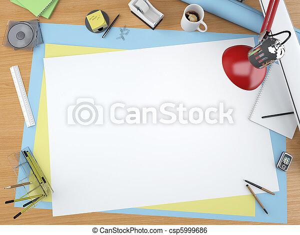 La mejor vista del escritorio de diseñador - csp5999686