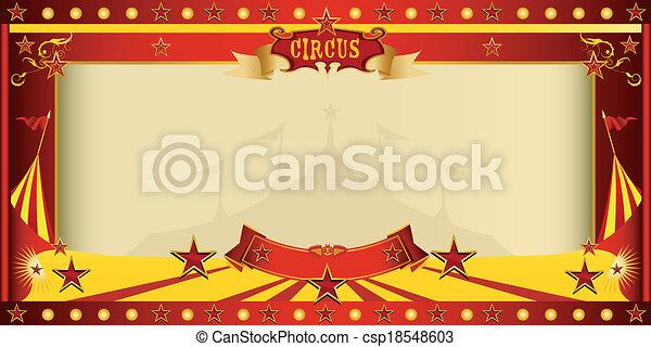 Invitar a un gran circo - csp18548603