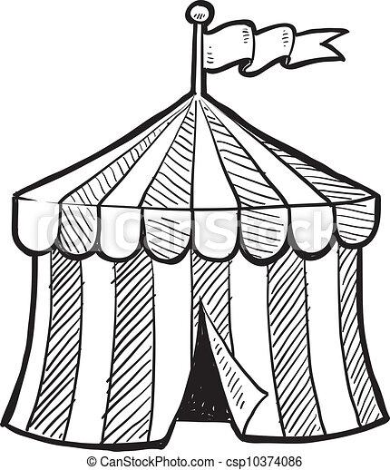 cima grande, circo, schizzo - csp10374086