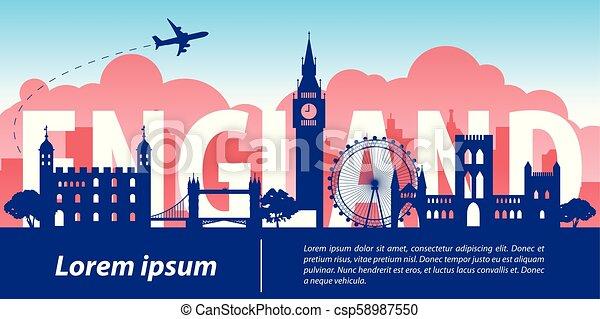 Inglaterra es un monumento famoso - csp58987550