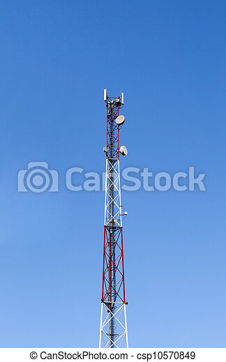 Arriba de la torre celular - csp10570849