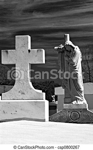 cimetière, ange - csp0800267