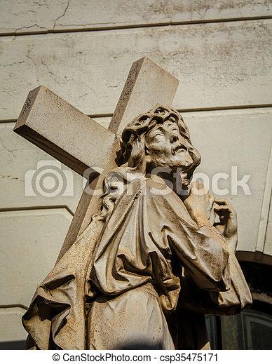 cimetière, croix, saint, recoleta - csp35475171