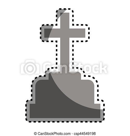Cimetière Halloween Tombe Icône