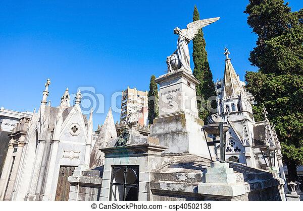 cimetière, recoleta, buenos aires - csp40502138