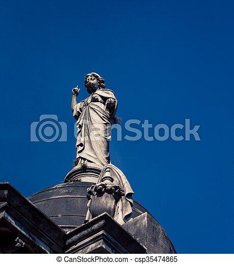 cimetière, recoleta, statue - csp35474865