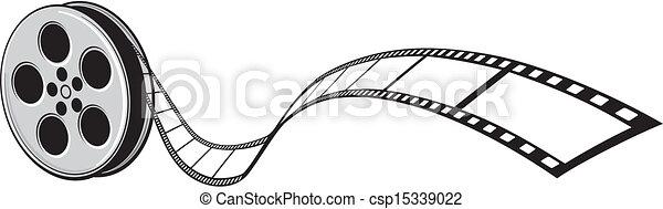 cinéma, projecteur, bande film - csp15339022