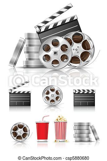 cinématographie, ensemble, objets - csp5880680