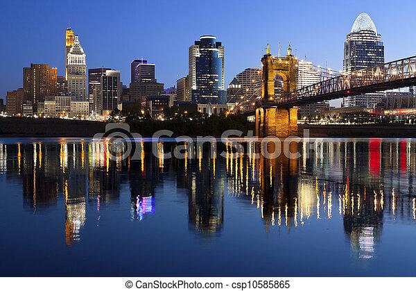 Cincinnati skyline. - csp10585865