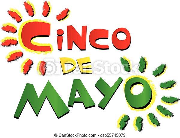 Cinco de Mayo Colorful Logo - csp55745073