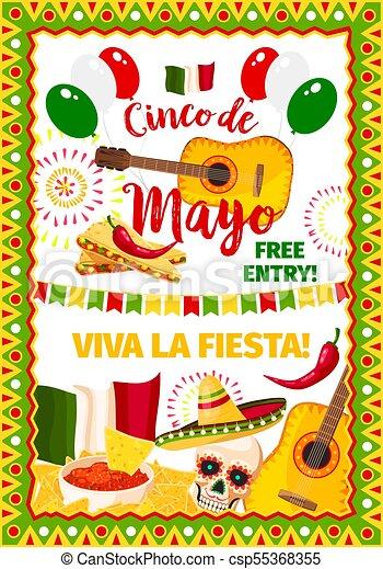 Cinco de mayo fiesta mexican vector greeting card cinco de mayo cinco de mayo fiesta mexican vector greeting card m4hsunfo