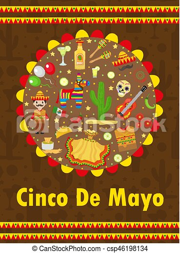 Cinco de mayo greeting card template for flyer poster invitation cinco de mayo greeting card template for flyer poster invitation mexican celebration with m4hsunfo