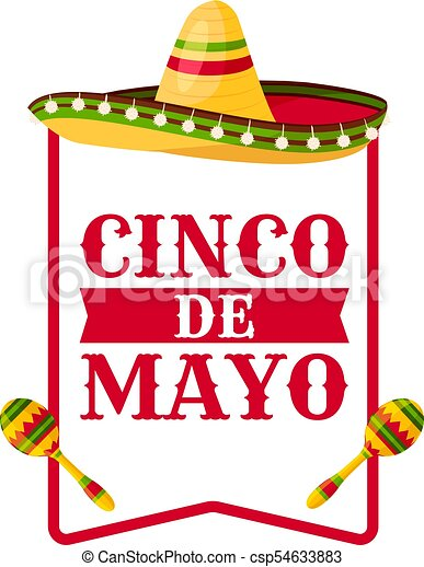 Cinco de mayo greeting card with mexican sombrero mexican cinco de cinco de mayo greeting card with mexican sombrero csp54633883 m4hsunfo