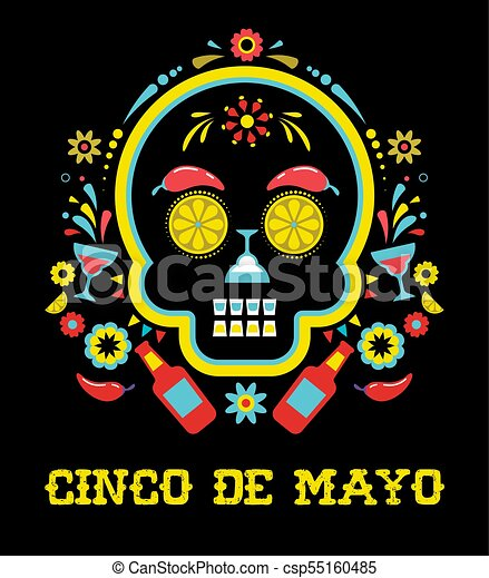 Cinco de mayo mexican fiesta holiday poster party flyer cinco de mayo mexican fiesta holiday poster party flyer greeting card m4hsunfo