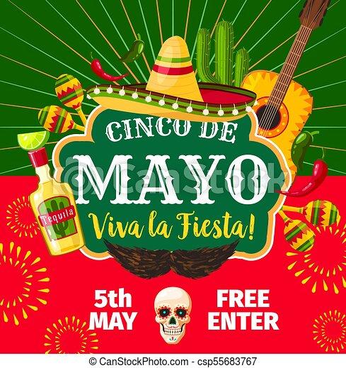 Cinco de mayo mexican vector fiesta invitation cinco de clip art cinco de mayo mexican vector fiesta invitation stopboris Image collections