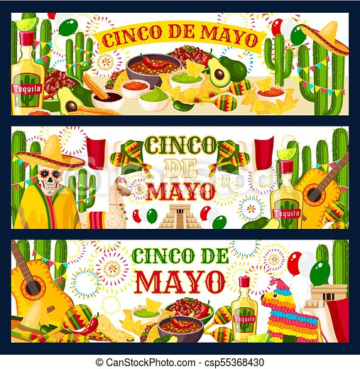 Cinco de mayo mexican vector greeting banners cinco de mayo mexican cinco de mayo mexican vector greeting banners m4hsunfo
