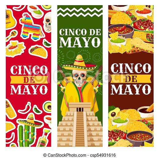 Cinco de mayo mexican vector greeting banners cinco de mayo cinco de mayo mexican vector greeting banners m4hsunfo