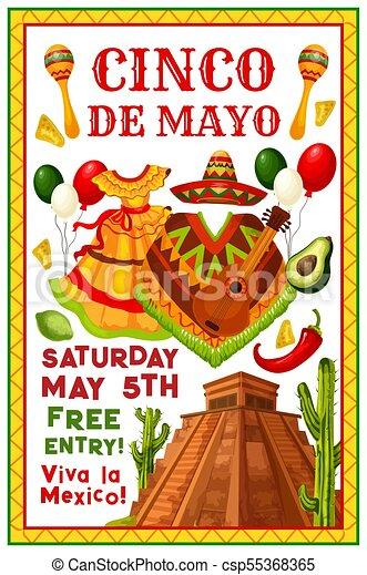 Cinco de mayo mexican vector party invitation cinco de mayo clip cinco de mayo mexican vector party invitation stopboris Image collections