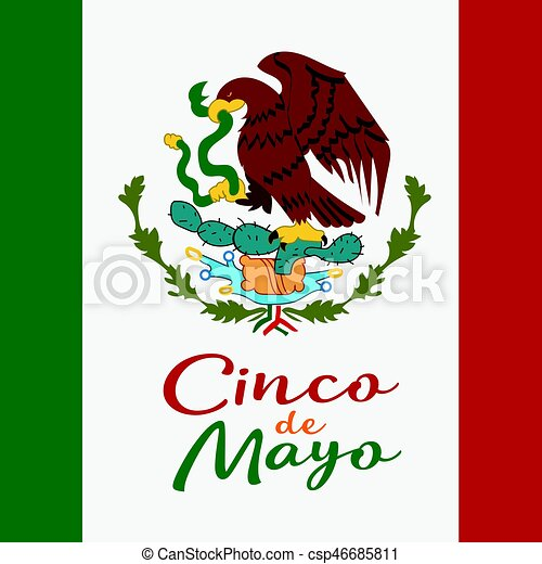 cinco de mayo poster design symbol of the mexican flag vector rh canstockphoto com american flag clipart mexico flag clip art
