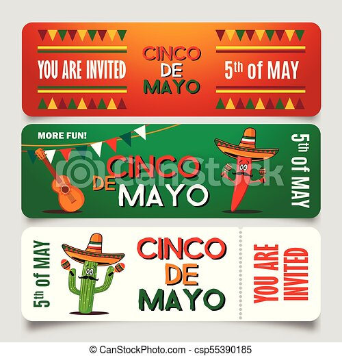 cinco de mayo poster design template with lettering flaming red
